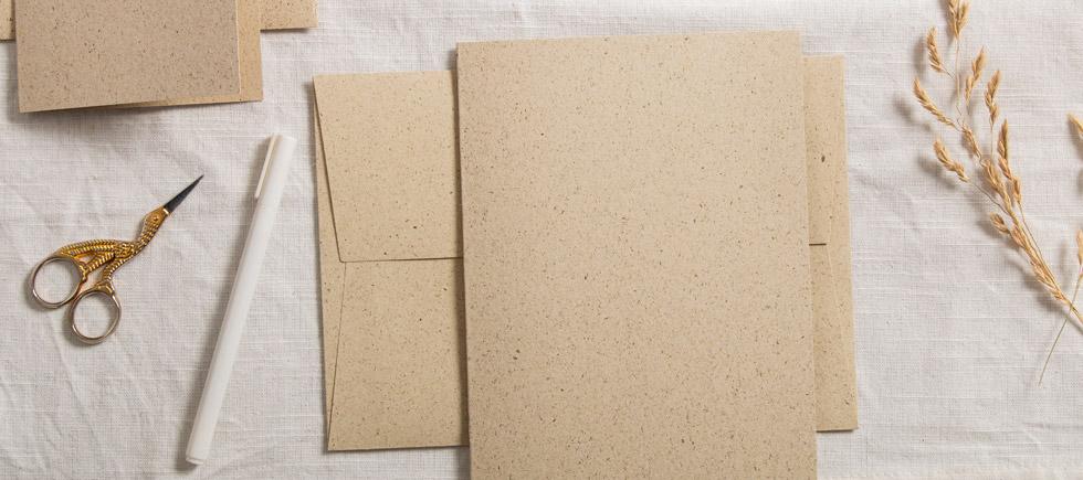 cartes-papier-d'herbe