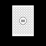 ColorLaser Weiß Ø 20 mm | matt | 100 Blatt