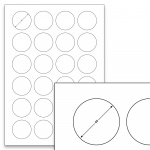 Étiquettes blanches - Ø 40 mm