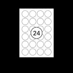 Etiketten Weiß Rund - Ø 40 mm