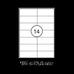 Etiketten Weiß - 105 x 42,4 mm