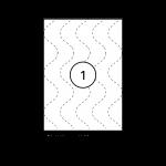Étiquettes blanches - 210 x 297 mm