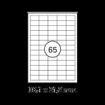 Etiketten Weiß -  38 x 21,2 mm