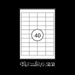 Étiquettes blanches - 48,5 x 25,4 mm