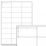 Étiquettes blanches - 70 x 36 mm