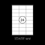 Etiketten Weiß - 70 x 36 mm