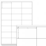 Étiquettes blanches - 70 x 41 mm