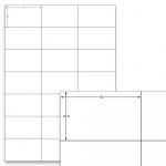 Étiquettes blanches - 70 x 42,3 mm