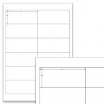 Étiquettes blanches - 97 x 42,3 mm