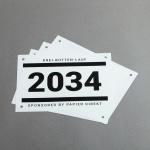 Pretex Startnummern imprägniertes Spezialpapier DIN A5