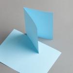 Karten Farbig A6 hochdoppelt Blau | 25 Stück