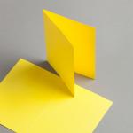 Karten Farbig A6 hochdoppelt Kanariengelb | 100 Stück