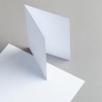 Karten Weiß A6 hochdoppelt 160 g/m²