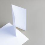 Cartes blanches DIN long double haut 160 g/m²