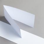 Karten Weiß DIN lang querdoppelt 200 g/m²