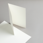 Cartes ivoire A5 double haut 250 g/m²