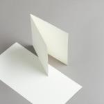 Cartes ivoire 140 x 140 mm
