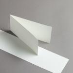 Edelpost Karten DIN lang querdoppelt   25 Stück