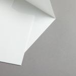 Echt Bütten (carta a mano) Buste Bianco 165 x 165 mm | 25 pezzi | non foderata