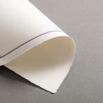 Echt Bütten Karten mit lila Doppelrahmen Diplomat einfach