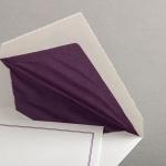 Echt Bütten Hüllen mit lila Doppelrahmen Diplomat mit Futter