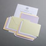 Probepäckchen farbige Büttenkarten und Hüllen