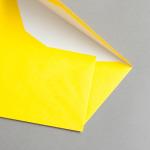 Enveloppes de couleur DIN long avec doublure Jaune soleil