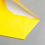 Farbige Briefhüllen DIN lang mit Futter Sonnengelb