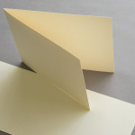Colored cards 120 x 169 mm vertical fold Ivory