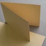 Farbige Karten DIN B6 querdoppelt 120 x 169 mm Sand