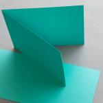 Farbige Karten DIN B6 querdoppelt 120 x 169 mm Smaragdgrün