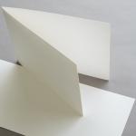 Farbige Karten 120 x 169 mm querdoppelt Cremeweiß