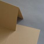 Colorplan Karten DIN B6 hochdoppelt 169 x 120 mm Cappuccino