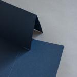 Colorplan Cartes 169 x 120 mm double haut Bleu foncé
