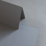 Colorplan cards 169 x 120 mm half-fold, portrait Stone grey