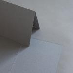 Colorplan Karten DIN B6 hochdoppelt  169 x 120 mm Steingrau