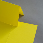 Colorplan Karten DIN B6 hochdoppelt 169 x 120 mm Sonnengelb