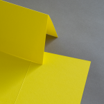 Colorplan Karten 169 x 120 mm hochdoppelt Sonnengelb