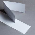 Sirio Pearl Karten querdoppelt Ice White