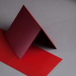 Sirio Pearl Biglietti 155 x 155 mm doppi Profondo Rosso