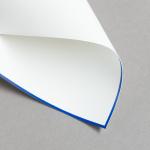 HS Luxury Papers - Karten A6 einfach blau gerändert | 100 Stück