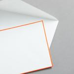 HS Luxury Papers - Hüllen DIN C6 orange gerändert | 100 Stück