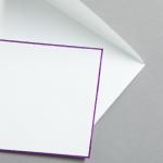 HS Luxury Papers - Hüllen DIN C6 lila gerändert | 25 Stück