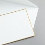 HS Luxury Papers - Buste DIN C6 bordatura oro | 100 pezzi