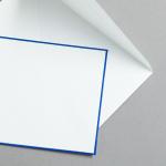 HS Luxury Papers - Buste DIN C6 bordatura blu | 25 pezzi