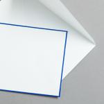 HS Luxury Papers - Hüllen DIN C6 blau gerändert | 100 Stück