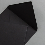 Black envelopes DIN B6