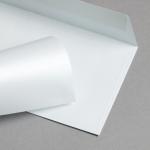 Metallics schimmernd Hüllen DIN lang Weiß mit Blauschimmer | ohne Fenster