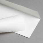 Metallics schimmernd Hüllen DIN lang Weiß | ohne Fenster