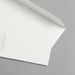Metallics schimmernd Hüllen DIN lang Weiß | mit Fenster
